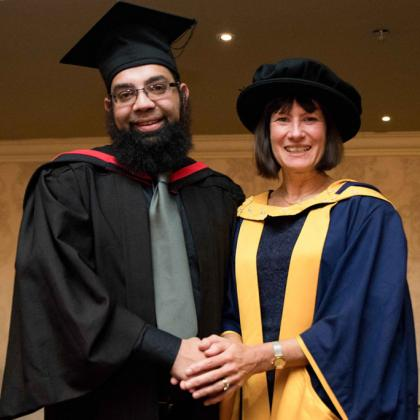 Dr Mohammed Kadwa with Dr Ruth Davis