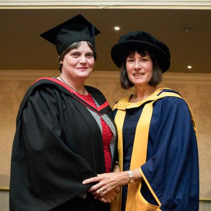 Dr Marie Coetzee with Dr Ruth Davis